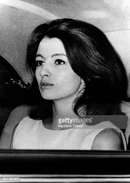 Top model Christine Keeler involved in the John Profumo scandal going to the courthouse for the trial of singer Aloysius Lucky Gordon who accused her...