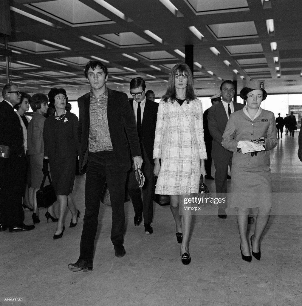Jean Shrimpton And Terence Stamp Nachrichtenfoto