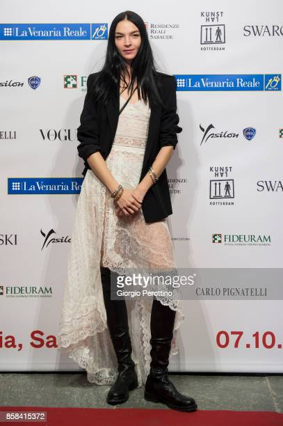 Top model Mariacarla Boscono attends the opening gala of 'A Different Vision On Fashion Photography' By Peter Lindbergh Exhibition at Reggia di...