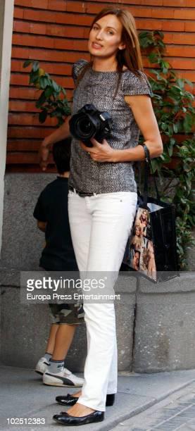 Top model Nieves Alvarez sighting on June 29 2010 in Madrid Spain