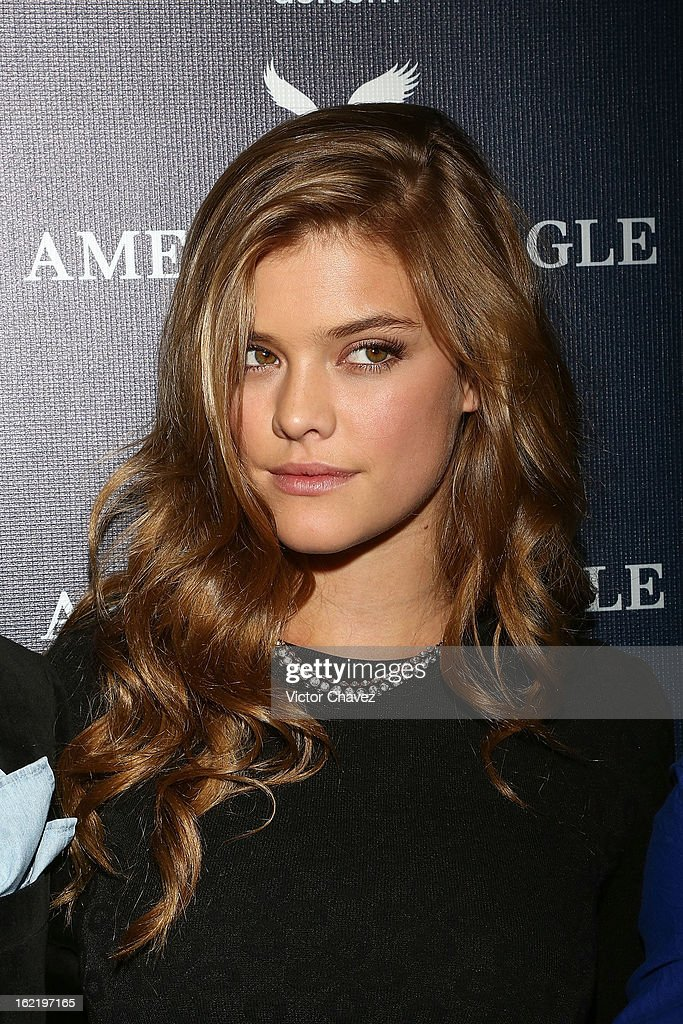Top model Nina Agdal attends the opening of the American Eagle Mexico City store at Centro Comercial Perisur on February 19, 2013 in Mexico City, Mexico.