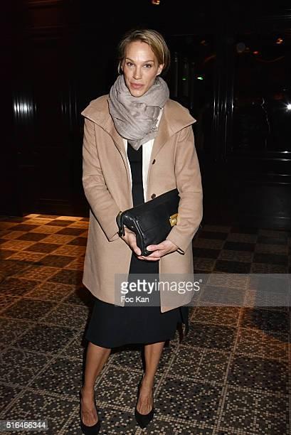 Top model/actress Emma Sjoberg attend Je n'ecrirai Jamais Mes Memoires Grace Jones Biography Launch Party Hosted By Editions Seguier At Les Bains...