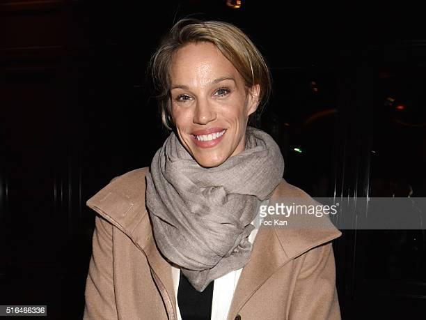Top model/actress Emma Sjoberg attends Je n'ecrirai Jamais Mes Memoires Grace Jones Biography Launch Party Hosted By Editions Seguier At Les Bains...