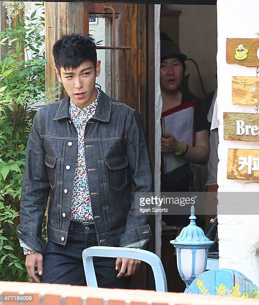 Top of Bigbang is seen during drama filiming at Samcheongdong on June 10 2015 in Seoul South Korea
