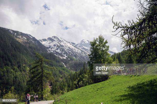 Top of Colle delle Finestre _ Illustration in Colle Delle Finestre during the 101st Tour of Italy 2018 Stage 19 a 185km stage from Venaria Reale to...