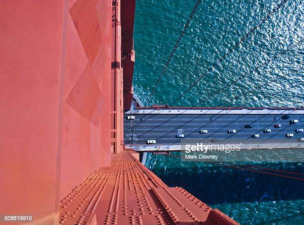top of golden gate bridge, san francisco, ca - two lane highway stock pictures, royalty-free photos & images
