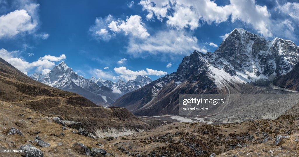 Top of himalayan mountain range, Everest region, Nepal : Stock Photo