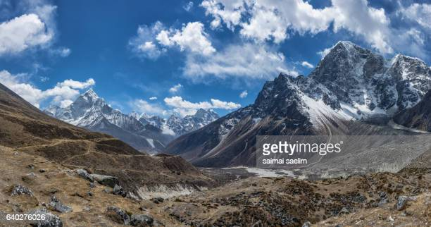 Top of himalayan mountain range, Everest region, Nepal