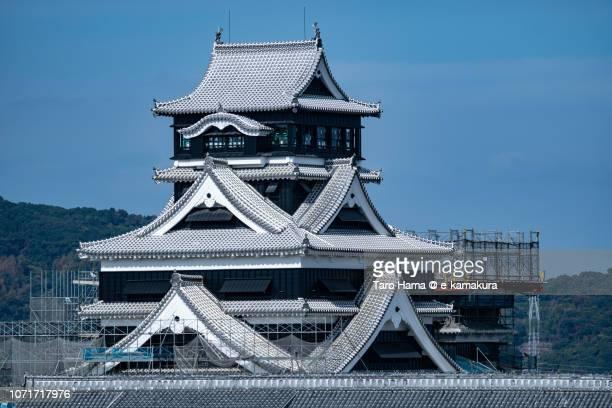 Top of Kumamoto Castle in Kumamoto city in Japan