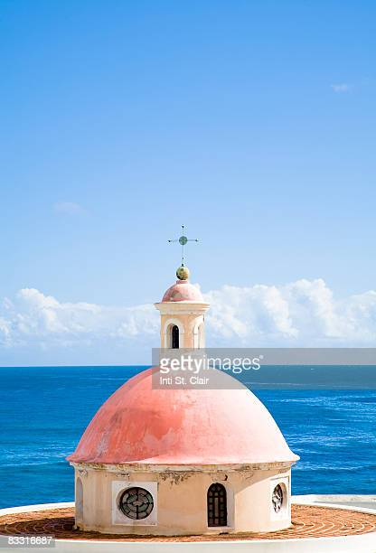top of mausoleum overlooking ocean - san juan stock pictures, royalty-free photos & images
