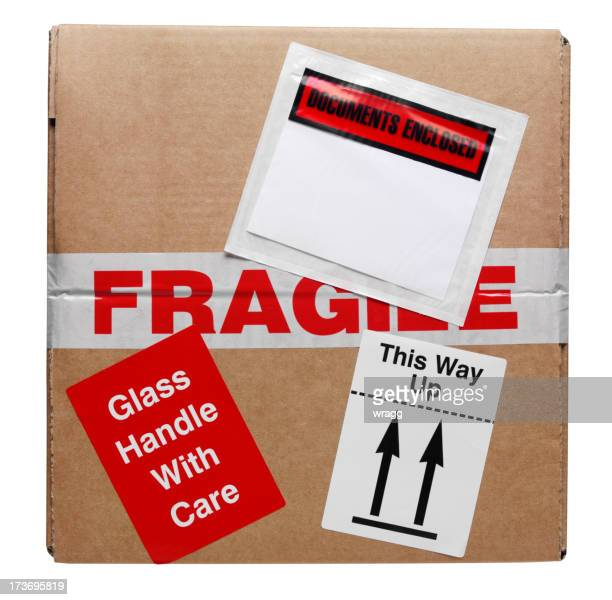 top of the box - fragile sign stock pictures, royalty-free photos & images