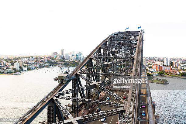 Top of the Harbour Bridge Sydne Australia, copy space