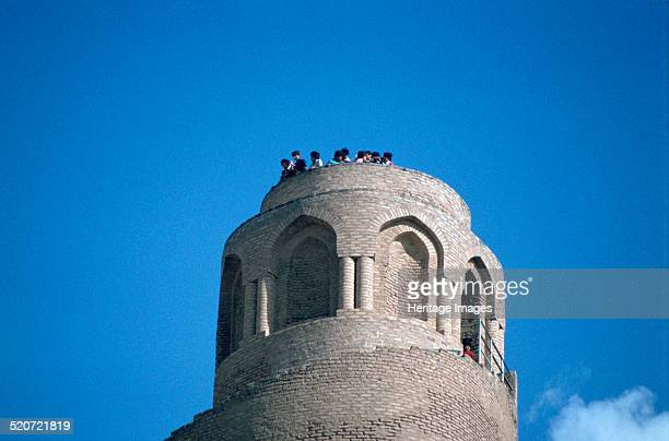 Top of the minaret of the Great Mosque Samarra Iraq 1977 This great spiral minaret was built in the mid 9th century by the Abbasid Caliph AlMutawakkil