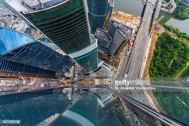 Top of the OKO Tower, Moscow, 350 meters
