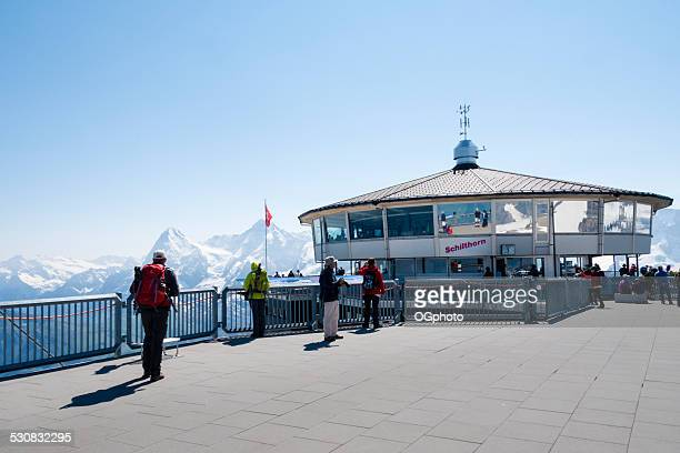 top of the schilthorn, switzerland - ogphoto stock photos and pictures