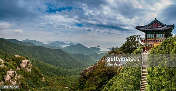 top of the world - south korea stock pictures, royalty-free photos & images