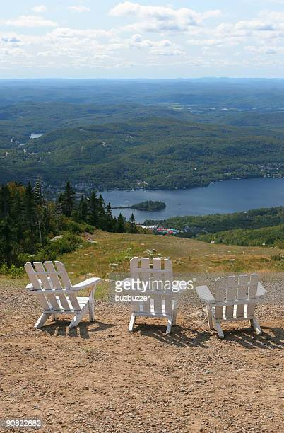 top of the world - mont tremblant stock pictures, royalty-free photos & images
