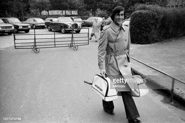 Top players at the Queen's Club Tournament at Queen's Club, Kensington. Ilie Nastase arrives. 21st June 1973.