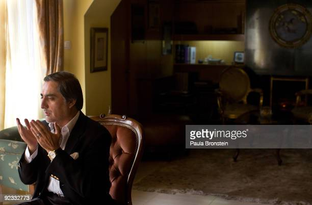 Top presidential challenger Abdullah Abdullah prays inside his Kabul home October 25 2009 in Kabul Afghanistan Abdullah Abdullah and President Hamid...