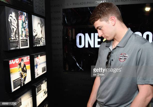 Top prospect Gabriel Vilardi visits the NHL Centennial Fan Arena museum on June 22 2017 at the United Center as part of the 2017 NHL Entry Draft...