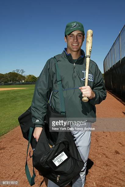 Top prospect Rocco Baldelli up from a big year in the minors is ready to play at the Tampa Bay Devil Rays' spring training camp in St Petersburg Fla
