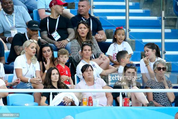 Top right Nicky Pike, wife of Ashley Young, below from left Megan Davison, girlfriend of Jordan Pickford, Annie Kilner, girlfriend of Kyle Walker,...