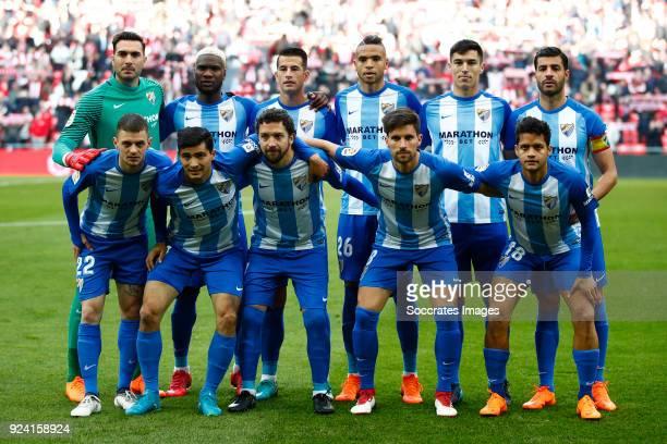 Top Roberto of Malaga CF Brown Ideye of Malaga CF Luis Hernandez of Malaga CF Youssef En Nesyri of Malaga CF Diego Gonzalez of Malaga CF Miguel...