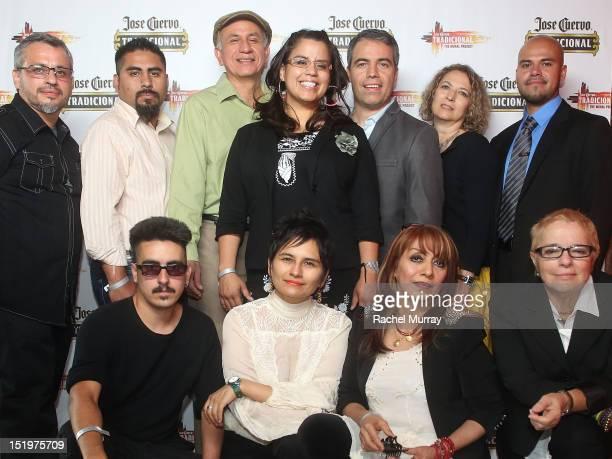 """Top Row Artists Adolf R Gonzales, Jesus """"Cimi"""" Alvarado, Fidencio Duran, Adriana M Garcia, Carlos Ibarra, Frances de La Rosa, Ricardo Gonzalez,..."""