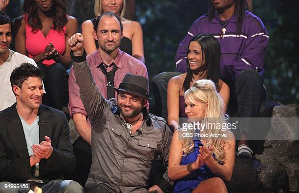 Top Row Dave Ball and Monica Padilla Bottom Row Mick Trimming Rusell Hantz and Winner Natalie White at the Live Finale and Reunion Show of SURVIVOR...