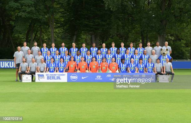 top row fitness coach Henrik Kuchno athletic trainer Hendrik Vieth Palko Dardai Peter Pekarik Marvin Plattenhardt Per Skjelbred Mathew Leckie...
