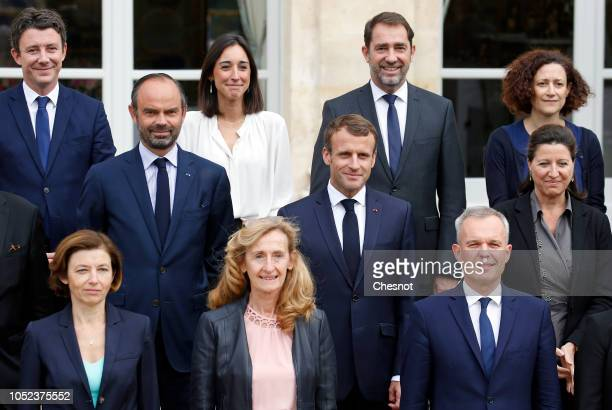 Top Row French Government's spokesperson Benjamin Griveaux, French Junior Minister attached to the Minister of Ecological and Inclusive Transition...