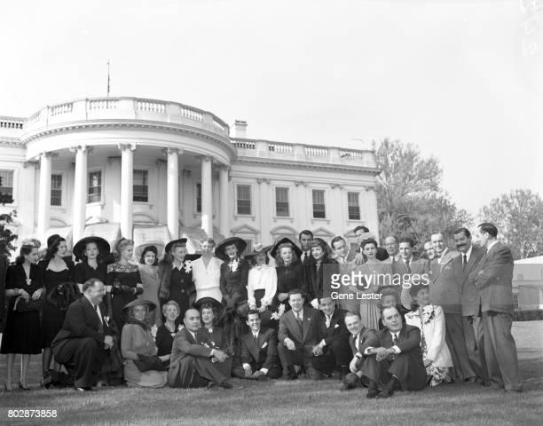Jean Hersholt;Eleanor Powell;Arlene Whelan;Marie McDonald;Paye McKenzie;Karin Booth;Eleanor Roosevelt; Frances Gifford;Frances Longford;Elyse...