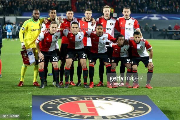 top row keeper Kenneth Vermeer of Feyenoord Renato Tapia of Feyenoord Steven Berghuis of Feyenoord Bart Nieuwkoop of Feyenoord Nicolai Jorgensen of...