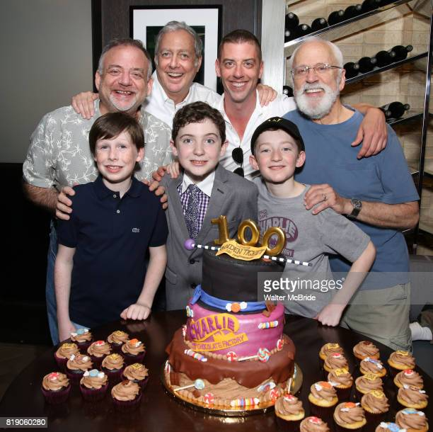 Top row Marc Shaiman Scott Wittman Christian Borle John Rubenstein Bottom row Jake Ryan Flynn Ryan Sell and Ryan Foust from 'Charlie and the...
