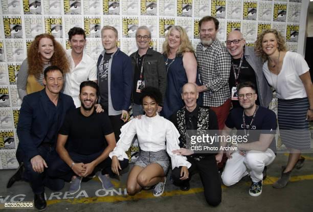Top Row : Mary Wiseman; James Frain; Anthony Rapp; Executive Producer, Alex Kurtzman; Executive Producer, Gretchen J. Berg; Rainn Wilson; Executive...