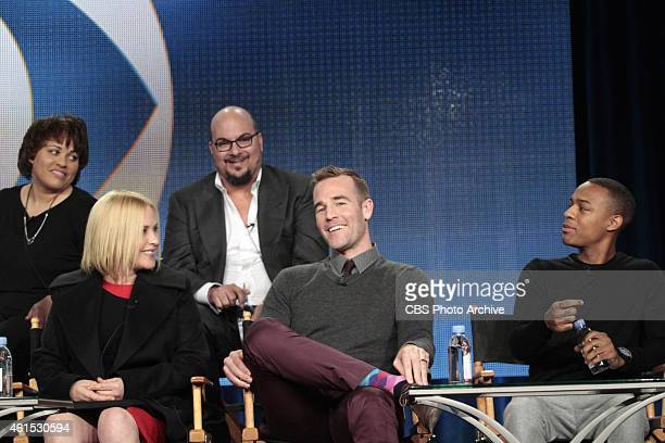Top Row Pam Veasey Executive Producer/Showrunner and Anthony E Zuiker Executive Producer Bottom Row Patricia Arquette James Van Der Beek and Shad...