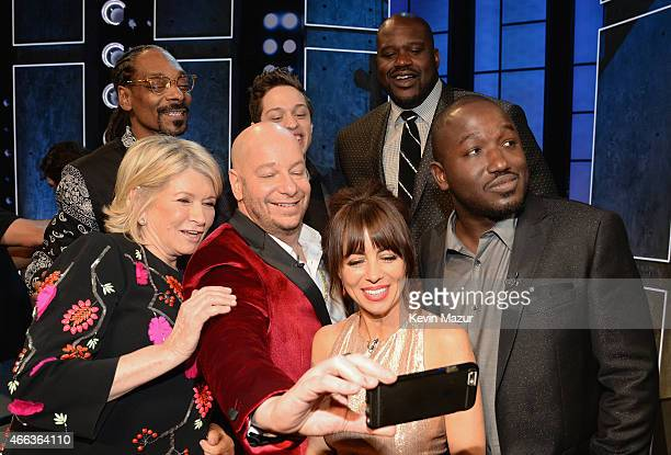 Top row Recording artist Snoop Dogg, comedian Pete Davidson and TV personality/retired NBA player Shaquille O'Neal. Bottom row: TV personality Martha...