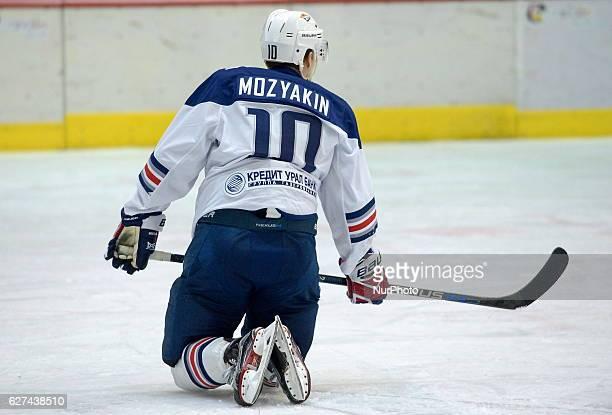 Top scorer of KHL 9th season Sergey Mazyakin of Metallurg Magnitogorsk during the game between Dinamo Riga and Metallurg Magnitogorsk at Tondiraba...