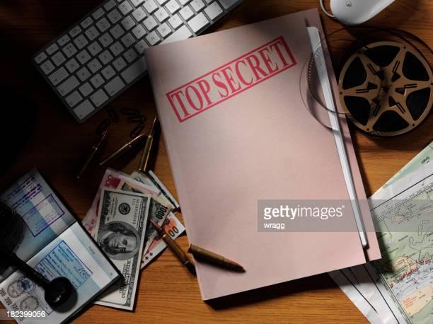 Top Secret Document dans un bureau
