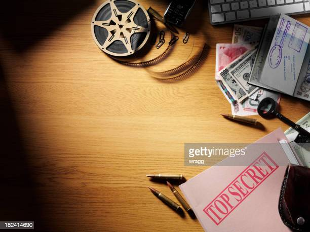 top secret document in a office - secret agent stock pictures, royalty-free photos & images