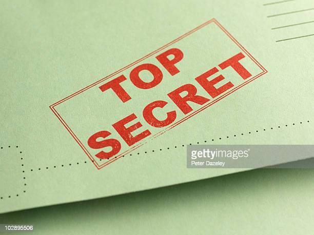 top secret folder file - rätsel stock-fotos und bilder