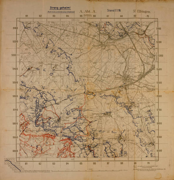 Top secret world war i map of northeastern france near german border top secret world war i map of northeastern france near german border showing german military positions gumiabroncs Gallery