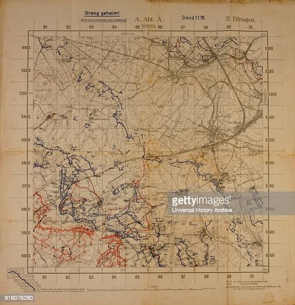 Map Of Germany France Border.Top Secret World War I Map Of Northeastern France Near German Border