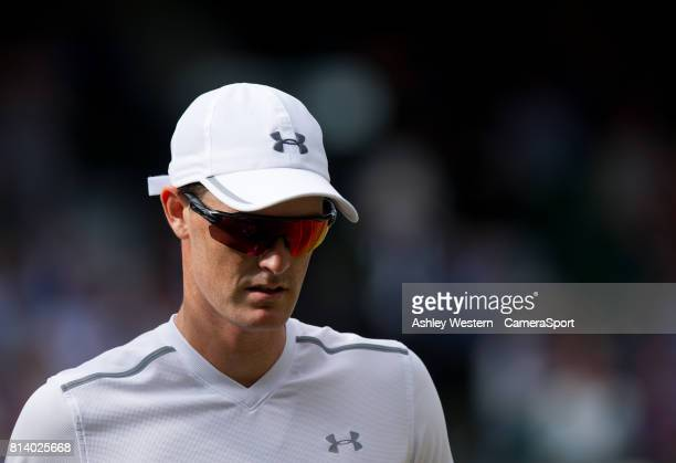 Top seeds Jamie Murray during their victory against Ken Skupski and Jocelyn Rae at Wimbledon on July 13 2017 in London England