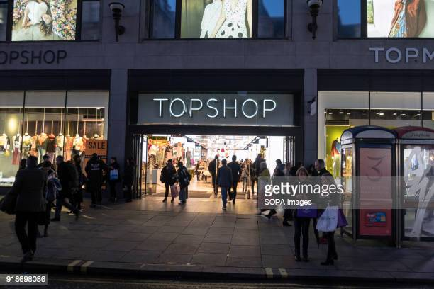 Top Shop store seen in London famous Oxford street. Central London is one of the most attractive tourist attraction for individuals whose willing to...