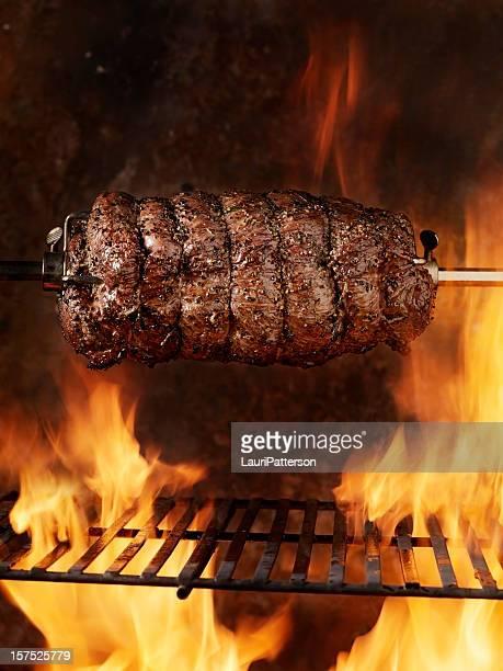 Top Sirloin Beef Roast on the BBQ
