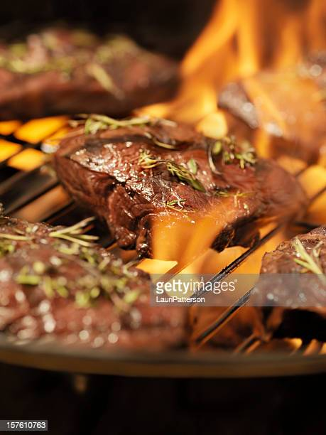 Solomillo superior bistecs con hierbas frescas