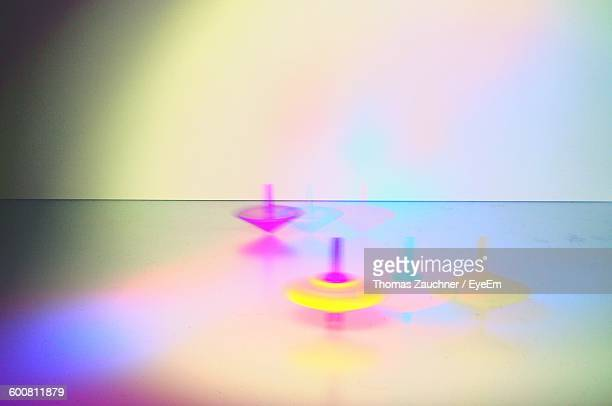 Top Spinning On Table