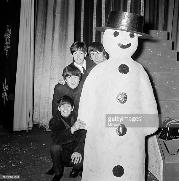George Harrison Paul McCartney John Lennon and Ringo Starr 19th December 1963