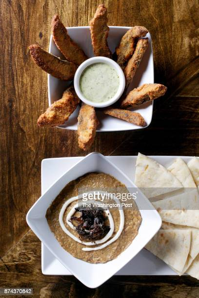Portobello FriesStrips of portobello mushroom breaded in panko basil aioli and Kashke BademjanEggplant and walnut spread with sundried Persian yogurt...
